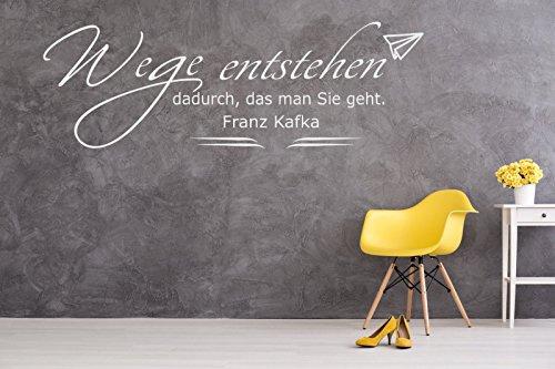 tjapalo® W-pk137 Wandtattoo Büro Wandtatoo Wohnzimmer Flur Zitat Frank Kafka Wege entstehen dadurch, das man Sie geht