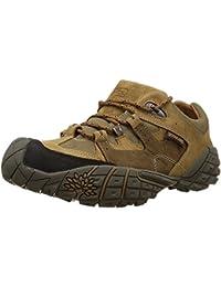 Woodland Men's Tobacco Leather Sneakers - 11 UK-India (45 EU)