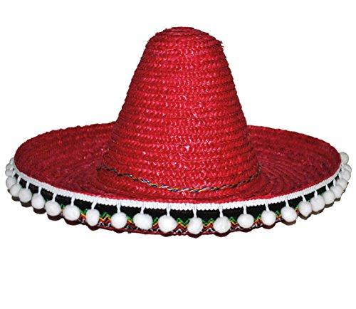 Karneval Klamotten Kostüm Riesenhut Mexico rot Zubehör Hut Karneval