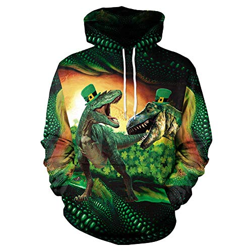 , Classic Forest Raptor 3D Digital Printing Sleeve Leve Casual Youth Jacket,Green,XL ()