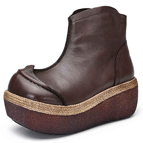Shoe house Sneakers Christmas Carnival Frauenboots gegen Schleudertraubung braun 3-6,Akhaki,EU36/US4.5(M)/UK4 - Distressed Braun Cowboy Stiefel