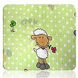 Mullwindeln bedruckt mit verschiedenen Motiven (Tiere: Kuh, Marienkäfer, Schafe, Schafe grün)