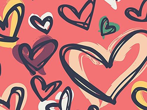Art Gallery Stoffe Wo das Herz ist rot Stretch Jersey Knit Kleid Stoff-Pro Meter - Knit Kleid Herz