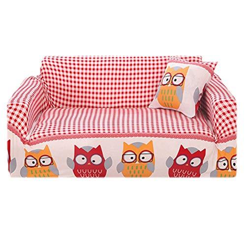 1-Stück Sofabezug Elastische Polyester Spandex Stoff Stretch Slipcovers, Sofa Cover Gestrickter Mit Anti-Falten Rutschfest...