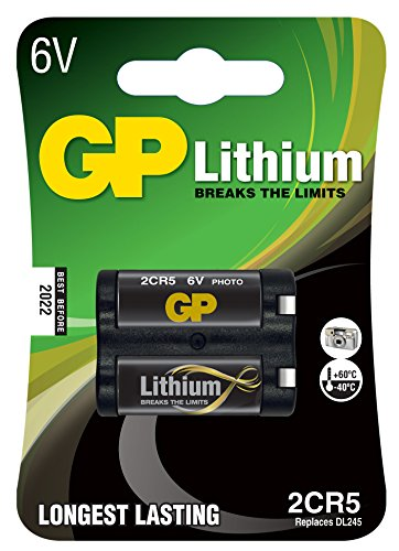 GP Pile photo Lithium compatible EL2CR5BP/DL245 6 V