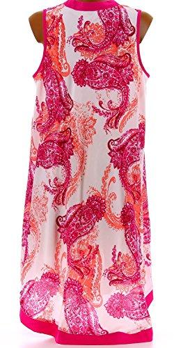 Charleselie94® - Robe été asymétrique bohème grande taille rose IVANA ROSE Rose