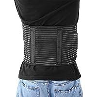 Wenquan,Cinturón de Soporte de Cintura(Color:Negro,Size:Metro)