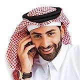 BaronHong Classic Middle Eastern Pattern Arabo Copricapo Turban Men Musulmano Foulard (Rosso, M)