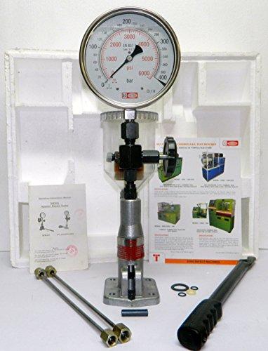 Diesel Einspritzdüsen Prüfgerät Dualskala Glycerin Gefüllt Manometer - 400 Bar / 6000 PSI -