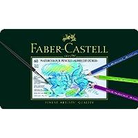 Faber-Castell 117560 - Estuche de metal con 60 ecolápices acuarelables, multicolor