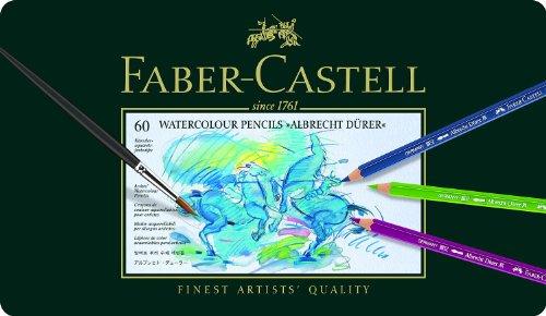 Faber-Castell 117560 – Estuche de metal con 60 ecolápices acuarelables, multicolor