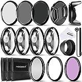 Neewer Kit accesorio de filtros 77 MM lente completa para lentes de tamaño de filtro 77 MM: kit de filtro UV CPL FLD + Set Macro Close Up (+ 1 + 2 + 4 + 10) + Set de Filtros ND (ND2 ND4 ND8) + otros accesorios