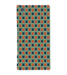 ifasho Designer Phone Back Case Cover Sony Xperia Z5 :: Sony Xperia Z5 Dual 23MP ( Flower Design Blue Pink combination )