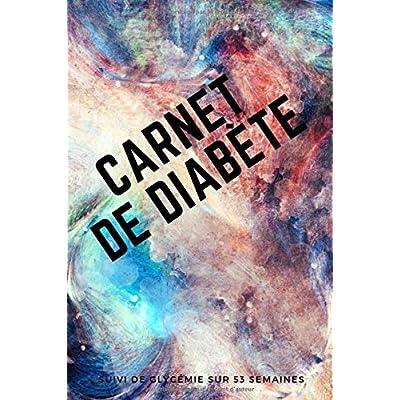 Carnet de Diabète: Suivi de Glycémie sur 53 semaines