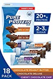 Pure Protein Bar Variety Pack (6 Chocolate Peanut Butter, 6 Chewy Chocolate Chip, 6 Chocolate Deluxe), (18 Count of 1.76 Oz bars) from Pure Protein by Pure Protein