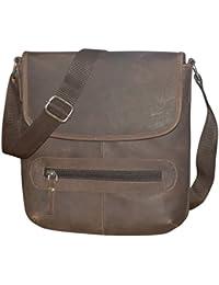 Style98 100% Hunter Leather Handmade Stitched Unisex Sling Bag For Men,Women,Boys & Girls - B06XXWPWM1