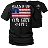 Stand Up - Proud American Flag Support 2nd Amendment Support T-Shirt (3X)