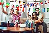 Bdecoll 2 pack WM Flaggen 2018 Russland Weltmeisterschaft World Cup 32 Länder Fahnen Mehrfarbige Banner Perfekte Dekoration für Fußball (8