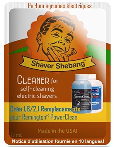 Équivalent de 8 bouteilles de Remington PowerClean - Citron Électrique - 4 paquet Shaver Shebang