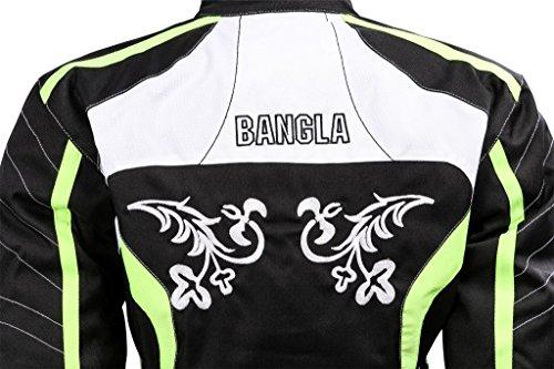 Damen Motorradjacke Touren Jacke Bikerjacke Tribal Bangla B-115 Textil neon L - 4