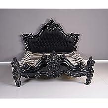Kingsize Cama Barroco EHE Cama Negro Lujo Dormitorio Cama Doble XXL Palazzo Exklusiv