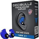 Decibullz - Tapones antiruido moldeables para los oídos, talla única, azul, talla única