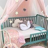 Leezeshaw Betthimmel / Moskitonetz mit Kuppel, mit Sternen, für Mädchen- und Kinderzimmer, Polyester-Mischgewebe, rose, 240 cm