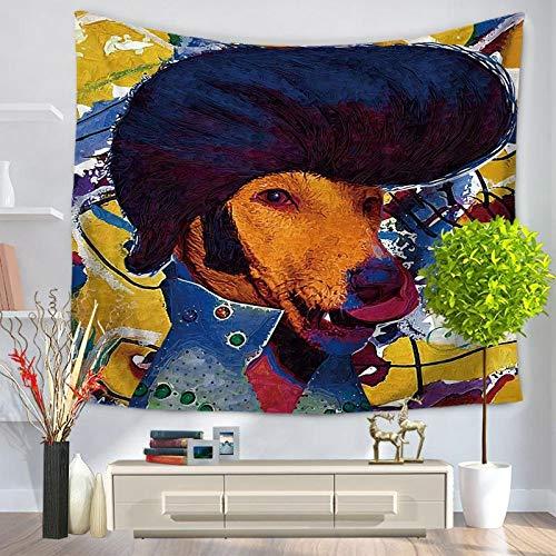 jzxjzx Tiersterngesichtsteppich-Wandbehang-Badetuchdecke 3 130 * 150 -