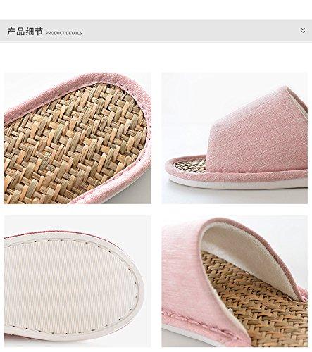 in estate le pantofole, antiscivolo lino pantofole,41 E 42 Grey 37 E 38 beige