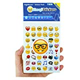 Emoji Pegatinas 28 hojas con Happy Faces Kid Etiquetas de iPhone Facebook Twitter