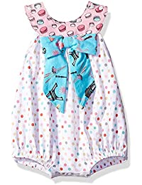 766f8a574c28 Jelly The Pug Baby Girls  Bow Romper
