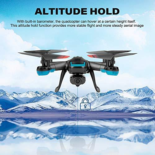 Mobiliarbus Global Drone GW007-3 RC Drone 720P WiFi FPV Selfie Altitude Hold One Key Ritorno RC Training Quadcopter per Principianti Regalo di Nat