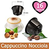16 Kapseln Nescafé Dolce Gusto Kaffee Kompatibel Haselnuss Cappuccino - Hergestellt in Italien - Kickkick Kaffee