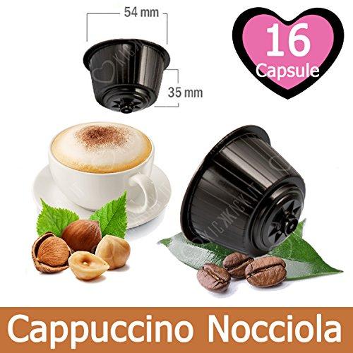 16 Capsulas Cappuccino Sabor Avellana Compatibles Nescafè Dolce Gusto - Café Kickkick