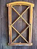 Antikas - Eisenfenster klappbar, stehendes Fenster-wie antik, Gusseisen-Stallfenster Raute
