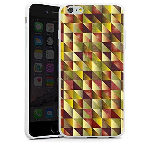 Apple iPhone X Silikon Hülle Case Schutzhülle Dreiecke Muster Abstrakt Silikon Case weiß