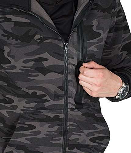 BetterStylz WhitefishBZ Herren Regular Fit Kapuzen Jacke Zip Übergangsjacke Hooded Camouflage in 2 Farben (S-XL) - 3