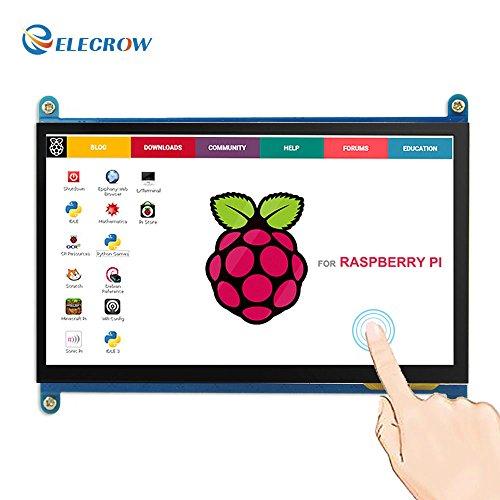 Monitor Display Anzeigen IPS Bildschirm-7 Zoll 1024X600 HD TFT LCD mit Touchscreen für Himbeere Raspberry Pi B + / 2B Raspberry Pi 3 Windows 10/8.1/8/7