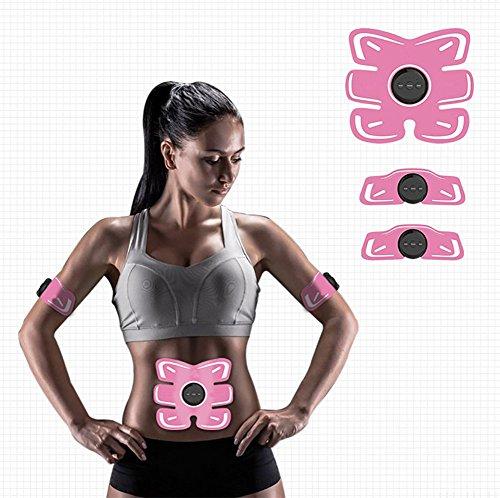 AMYB Muskel Toner Muskel Abdominal Stimulator Abdominal Apparat EMS Für Hauptfitness Und Gymnastik-Training, Maschine Abdominal- Toning-Gurt Für Männer U,Pink