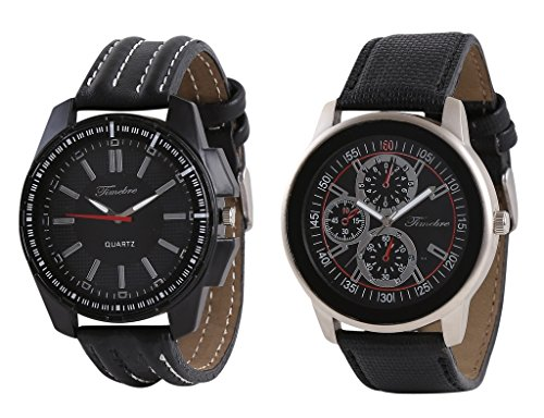 Timebre Men Exotic Black Leather Causal Analog Watches-109 image