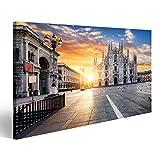 Bild Bilder auf Leinwand Duomo bei Sonnenaufgang, Mailand,