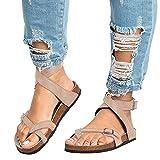 Anokar Sandali da Donna Estate Cuoio Elegante Casual Shoes Infradito Tacco  Basso Peep Toe Cinturino alla b838b487576