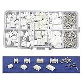SODIAL 40 ensembles Kit dans la boite 2p 3p 4p 5 broches 2.54mm Pitch Terminal / Logement / Pin Connecteur Connecteurs de Fil Connecteur Adaptateur XH Kits