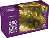 Brite Ideas Festive Productions Cluster 280 LED Lights - Warm White
