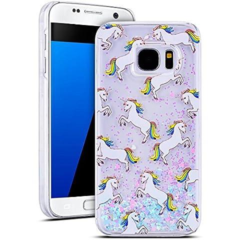 SMART LEGEND Samsung Galaxy S7 Hülle Glitzer Hartschale Hardcase Flüssiges