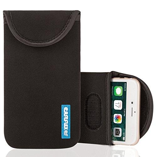 Caseflex iPhone 7 Hülle, iPhone 8 Hülle,Neopren Hülle / iPhone 7 / 8 Beutel / Skin / Tasche|Passgenau für das iPhone 7 (2016) &iPhone 8(2017)- Schwarz Schwarz