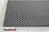 Dämmmatte, Absorptionsmatte aus hochwertigem, offenzelligem PU-Schaumstoff, geprägt, selbstklebend 2m x 1 m Stärke 10mm