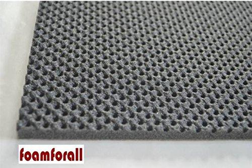 foamforall Dämmmatte, Absorptionsmatte aus hochwertigem, offenzelligem PU-Schaumstoff, geprägt, selbstklebend 2m x 1 m Stärke 10mm -
