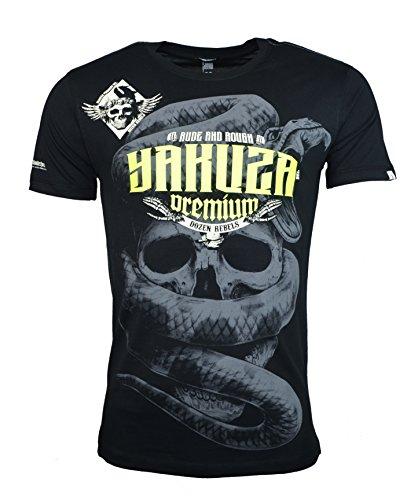 Yakuza Premium Herren T-Shirt YPS 2404 DOZEN REBELS Schwarz