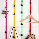 Multifunktionale Türrückwand-Hängeaufbewahrung für Handtaschen, Baseballkappen, Organizer, Türaufbewahrung, Türgarderobe Free Size rosarot